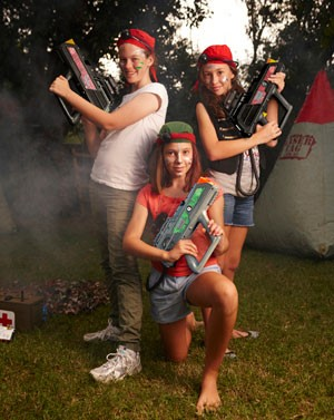 Laser Tag Team at Birthday Party in Florida