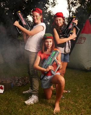 Laser Tag Team at Birthday Party
